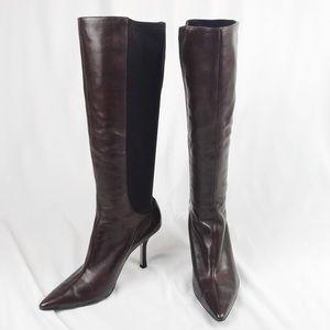 Tahari Chocolate Brown Leather Boots